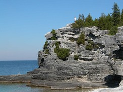 The Niagara Escarpment on the Bruce Peninsula