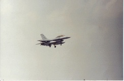 F-16 on landing approach at Homestead ARB, c. 1996