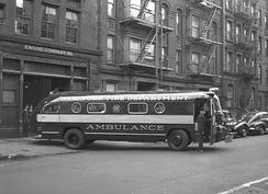 Fire Dept of New York ambulance, 1949