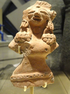 Female figure, possibly a fertility goddess, Harappan Phase, 2500–1900 BCE