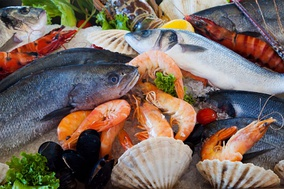 Seafoods are part of a pescetarian diet.