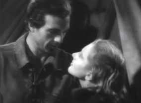 Screen capture of Gary Cooper and Jean Arthur
