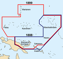 German New Guinea before and after the German-Spanish treaty of 1899