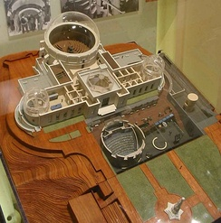 A model showing the new underground exhibits