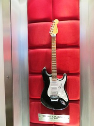 Sambora's Fender Stratocaster at the Hard Rock Cafe, London
