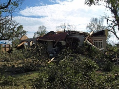 A house on Springhill Avenue destroyed in the Christmas Day 2012 tornado