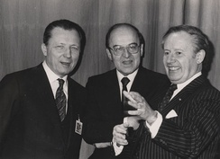 Jacques Delors (left) breathed new life into the European Commission Presidency after a period of 'eurosclerosis' under his predecessor, Gaston Thorn (right)