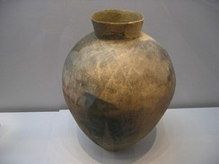 Large Middle Mumun (c. 800 BCE) storage vessel unearthed from a pit-house in or near Daepyeong