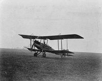 Royal Aircraft Factory B.E.12a, much like what No. 17 Squadron flew from 1916 to 1918.