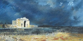 The Menin Gate at Midnight by Will Longstaff, showing the dead passing through the Menin Gate