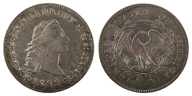 1795 Flowing hair dollar