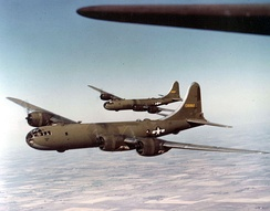 Pre-production Boeing YB-29 Superfortresses in formation