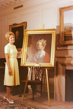 Louisa Adams' successor Pat Nixon acquired a portrait of the First Lady that now hangs in the White House.