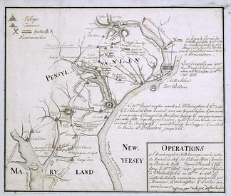 Hessian map of the campaign from August 25 – September 26, 1777