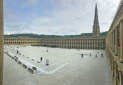 A Heritage Grant saw the renovation of Piece Hall in Halifax, West Yorkshire