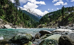Northern parts of the province feature forests and dramatic mountain scenery, as in Swat District.