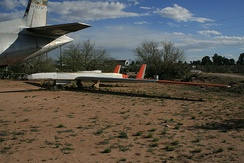 Preserved YQM-98A on display without its engine at the Pima Air & Space Museum.