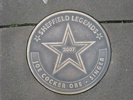 Sheffield Legends plaque in Cocker's home city of Sheffield, England