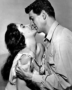 Taylor and Rock Hudson in Giant (1956)
