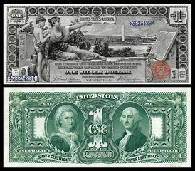 Серебряный сертификат 1896 года номиналом 1 доллар