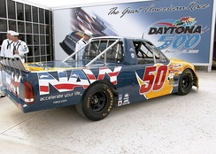 Jon Wood's No. 50 truck in 2002.