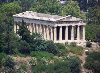 The Temple of Hephaestus at the Agora of Athens, built 449–415 BC