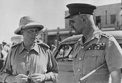 General Wavell (right) and Lieutenant-General Quinan, April 1941