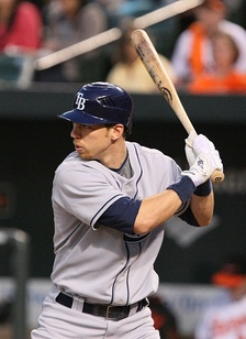 Zobrist batting for the Tampa Bay Rays in 2009