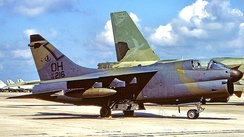 112th TFS Ling-Temco-Vought A-7D Corsair II 69-6216 in 1991, just before its retirement to AMARC.