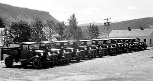 1933 Chevrolet trucks at Yellowstone