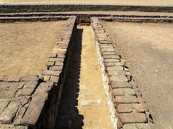 Remains of a drain at Lothal circa 3000 BC
