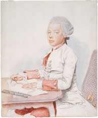 Young Leopold drawing fortifications, Jean-Étienne Liotard, 1762