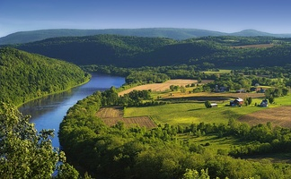 Susquehanna River in Bradford County, Pennsylvania