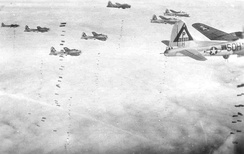 B-17G of the 384th Bomb Group on the bomb run