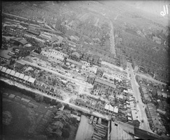 The extent of damage caused to a London residential area due to single V-2 strike in January 1945
