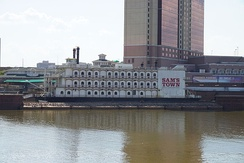 Sam's Town riverboat casino on the Red River, Shreveport, Louisiana