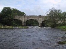 "Bridge upriver from ""the strid"" at Bolton Abbey - geograph.org.uk - 96747.jpg"