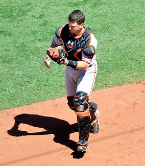 National League Player of the Month Buster Posey