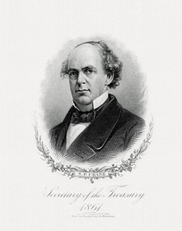 Bureau of Engraving and Printing portrait of Chase as Secretary of the Treasury