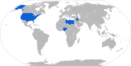 Map with military BAE Caiman operators in blue