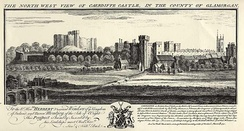 View of Caerdiffe Castle