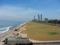 Galle Face Green, where many major events take place, is a favorite location for many. It is in close proximity to many of the major hotels. Formerly, it was the site of the city's race course, golf course and the cricket field