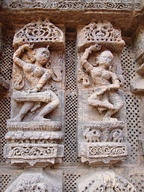 Musician and dancer relief at the Konark Sun temple.