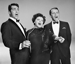 Sinatra with Dean Martin and Judy Garland in 1962