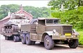 Diamond T tank transporter of the Dutch army carrying an M4 Sherman at the historic army days at Oirschot, the Netherlands