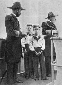 Four kings: Edward VII (far right); his son George, Prince of Wales, later George V (far left); and grandsons Edward, later Edward VIII (rear); and Albert, later George VI (foreground), c. 1908