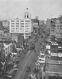 Ginza area in 1933