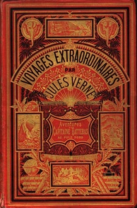 "A Hetzel edition of Verne's The Adventures of Captain Hatteras (cover style ""Aux deux éléphants"")"
