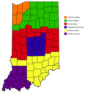 Regions of Indiana.