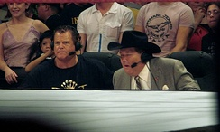 Jerry Lawler and Jim Ross came over from WWE to fill similar roles on XFL broadcasts.